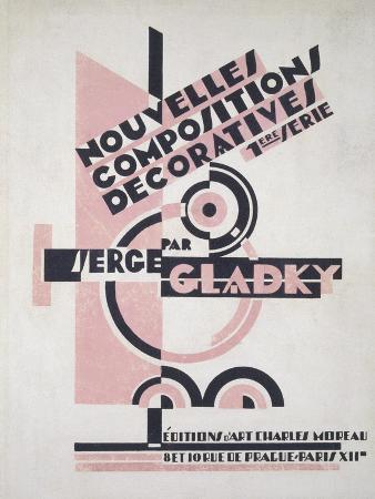 Front Cover of 'Nouvelles Compositions Decoratives', Late 1920S (Pochoir Print)
