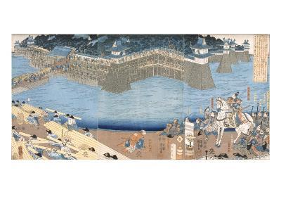 Major Construction by River Kunigos (Colour Woodblock Print)