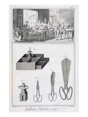 Tailor, from the 'Encyclopedie Des Sciences Et Metiers' by Denis Diderot (1713-84) Published C.1770