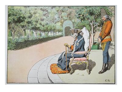 Last Days of Life, 1786 (Colour Litho)