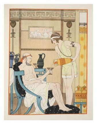 Hydration for the Cold, Illustration from 'The Works of Hippocrates', 1934 (Colour Litho)