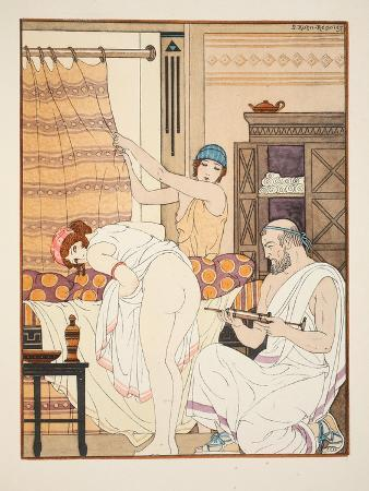 An Enema, Illustration from 'The Works of Hippocrates', 1934 (Colour Litho)