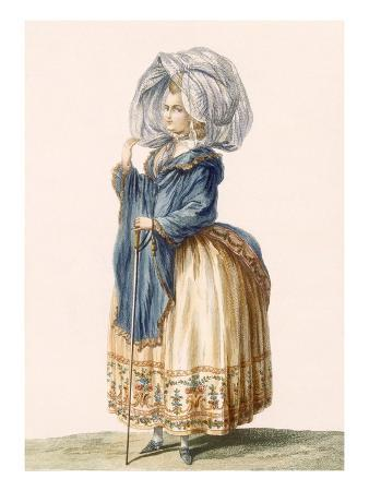 Lady's Gown, Engraved by Voysard, Plate from 'Galeries Des Modes Et Costumes Francais', C.1778-87