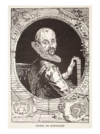 Michel De Montaigne (Litho)