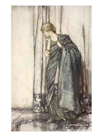 Helena, Illustration from 'Midsummer Nights Dream' by William Shakespeare, 1908 (Colour Litho)