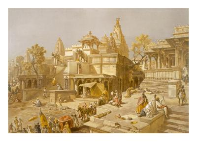 The Temple of Juggernauth, Oodepoore, from 'India Ancient and Modern', 1867 (Colour Litho)