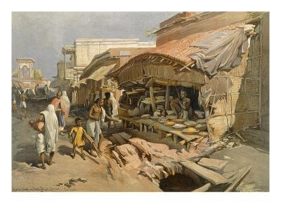 Native Shop in a Calcutta Bazaar, from 'India Ancient and Modern', 1867 (Colour Litho)