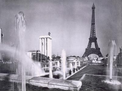 The Ornamental Lakes in Front of the Eiffel Tower, During the Paris International Exposition, 1937