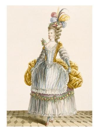 Lady's Ball Gown, Engraved by Dupin, from 'Galeries Des Modes Et Costumes Francais', 1778