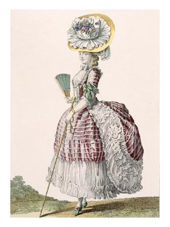 Lady Dressed in a Polonaise Style Dress, Engraved by Dupin, Plate No.82