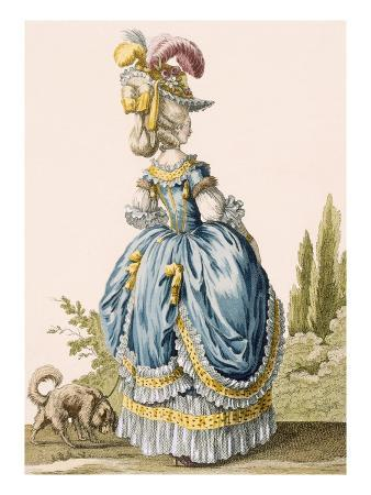 Back View of a Lady's Gown, Engraved by Voysard, Plate No.8