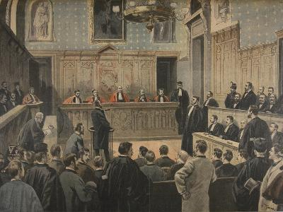 The Panama Trial, Illustration from 'Le Petit Journal: Supplement Illustre', 2nd January 1898
