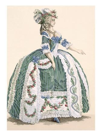 An Elaborate Royal Court Gown, Engraved by Dupin, Plate No.272