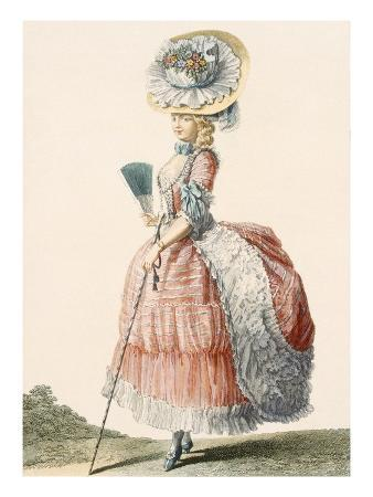 Ladies Promenade Dress, Engraved by Dupin, Plate from 'Galeries Des Modes Et Costumes Francais'