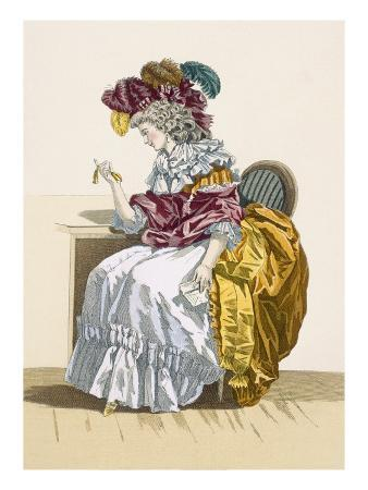 Lady Sitting Waiting for a Friend, Engraved by Dupin, Plate No.191