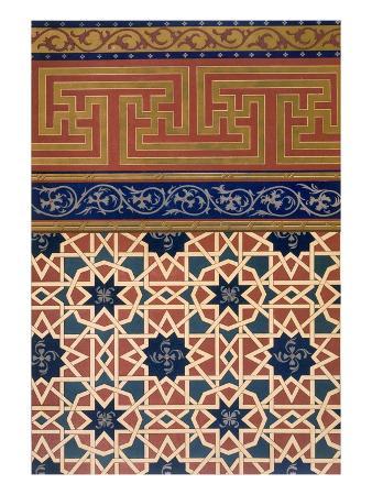 Pl 22 Architectural Decoration, Prob Mosaic Work, Inc Border, 19th Century (Folio)