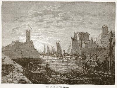 The Attack on the Piraeus (Litho)