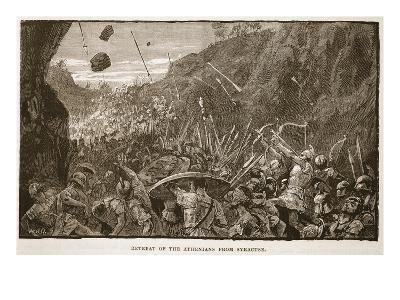 Retreat of the Athenians from Syracuse (Litho)