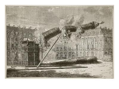 Fall of the Vendome Column, April 1871