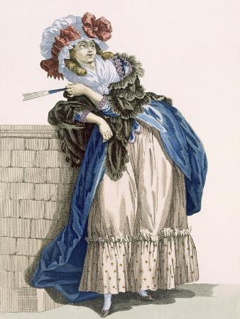 L'Amiable Cephise, Engraved by Dupin, Plate No.205 from 'Galeries Des Modes Et Costumes Francais'