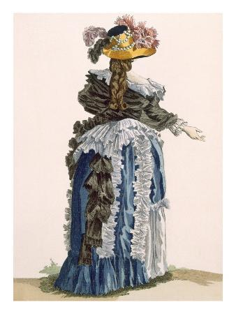 Back View of Ladies Gown, Engraved by Dupin, Plate No.247
