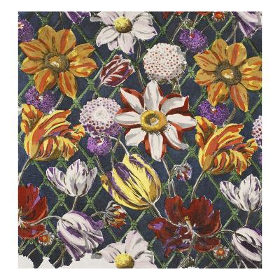 Tulips and Dahlias, Pub. 1933 (Colour Litho)