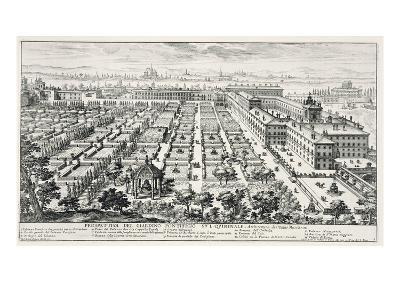 Gardens of the Quirinale, from 'Li Giardini Di Roma', Published C.1683