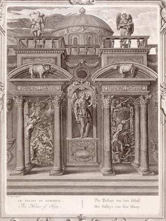 The House of Sleep, 1731 (Engraving)