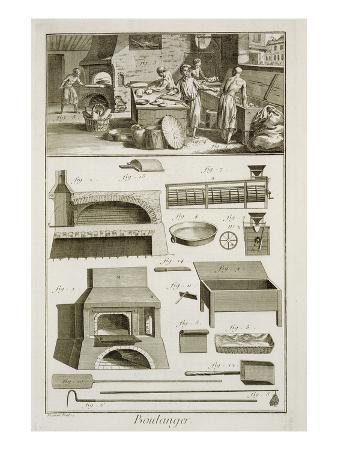 A Bakery and Baking Equipment, from the 'Encyclopedie Des Sciences Et Metiers'