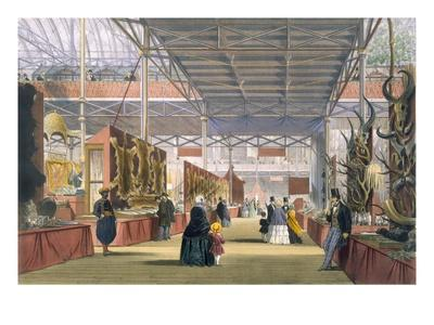 View of the India Section of the Great Exhibition of 1851, from Dickinson's Comprehensive Pictures