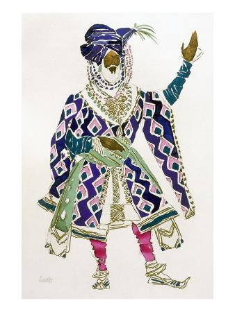 Costume Design for a Sultan (W/C on Paper)