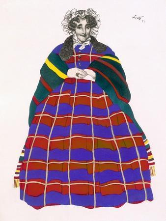 Costume Design for Madame Loenfowitch in Moscow in Olden Times, for the Spectacle of Russian Art