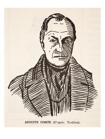 Auguste Comte (Litho)