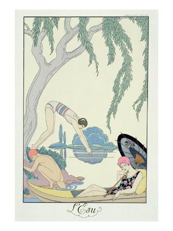 Water, 1925 (Pochoir Print)