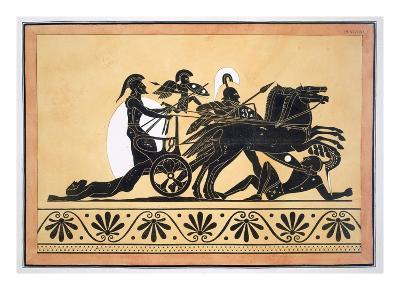 A War Chariot and Vanquished Enemies, Published 1808-10 (Colour Litho)