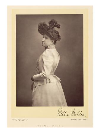 Dame Nellie Melba (1861-1931), Operatic Soprano, Portrait Photograph (Sepia Photo)