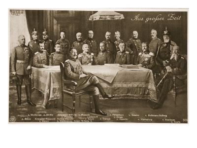 Men Who Have Mobilised the German Nation: the Kaiser and His Chief Military