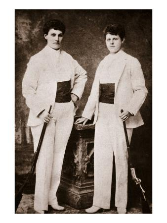 Annie Oakley and Her Sister (B/W Photo)