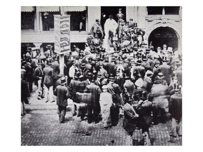 New York Gold Exchange, 1863 (B/W Photo)
