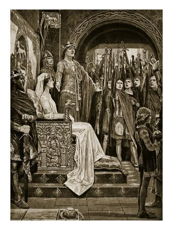 The Assembly at Windsor, 1126, Illustration from 'Hutchinson's Story of the British Nation', C.1923