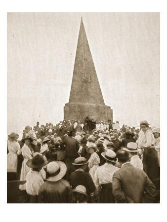 """A Picturesque Old Custom at St. Ives: the """"Old Hundredth"""" at the John Knill Obelisk"""