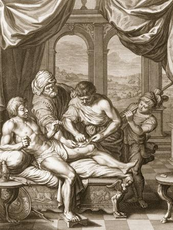 Telephus Cured by the Rust of the Same Spear Which Wounded Him, 1731 (Engraving)