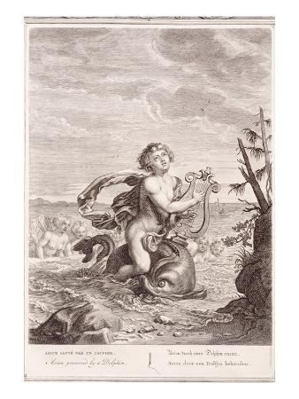 Arion Preserved by a Dolphin, 1731 (Engraving)