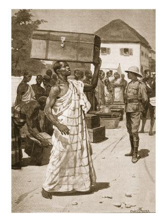 Carriers Starting from Cape Coast Castle for Kumassi