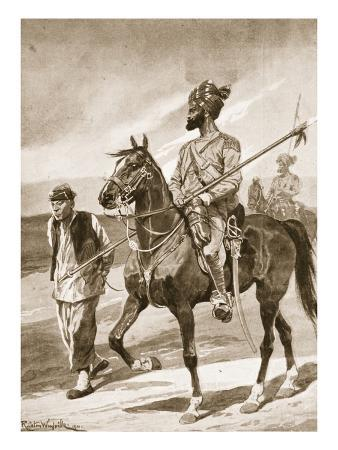 A Bengal Lancer and His Boxer Captive