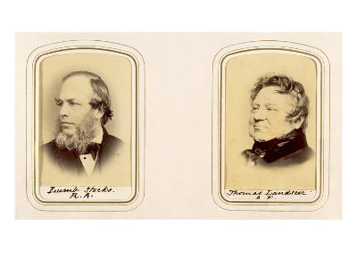 Portraits of Lumb Stocks and Thomas Landseer (Sepia Photo)