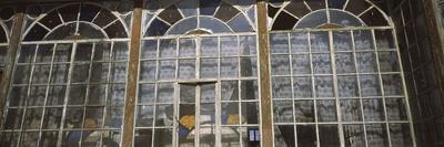 Art Deco Windows of House in Front of Castle, Bran Castle, Brasov, Transylvania, Mures County, R...