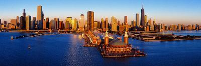 Sunrise at Navy Pier, Lake Michigan, Chicago, Cook County, Illinois, USA