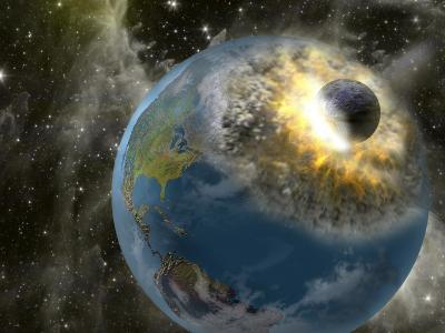 Earth Being Hit by a Planet Killing Meteorite