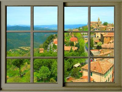 View from the Window at Montalcino, Tuscany